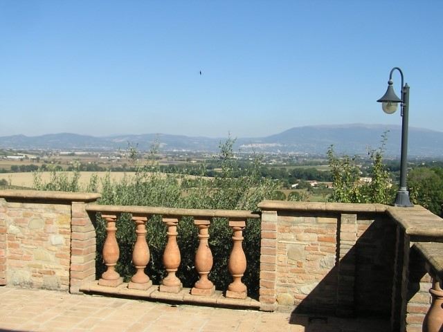 Traditional Umbria stone house on hilltop position with great views of the valley below