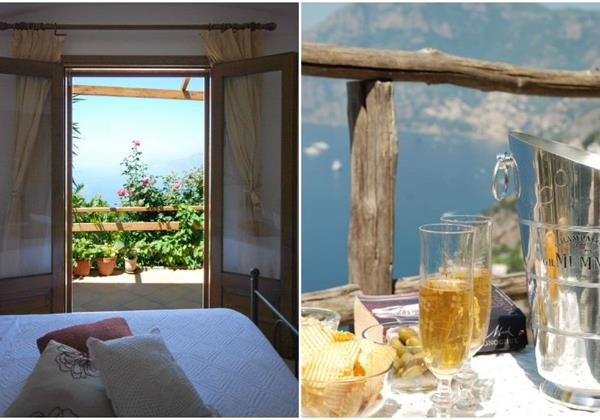 Romantic 1 bedroom apartment for 2 people on the Amalfi Coast with sea views