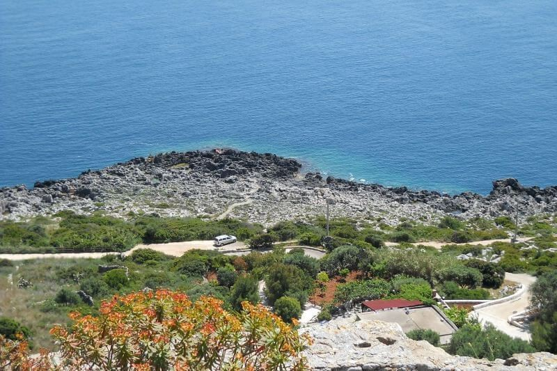 Traditional rustic Trulli in south Puglia with sea view