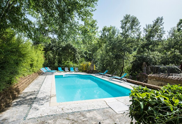 Villa in the Sibillini mountains with private pool
