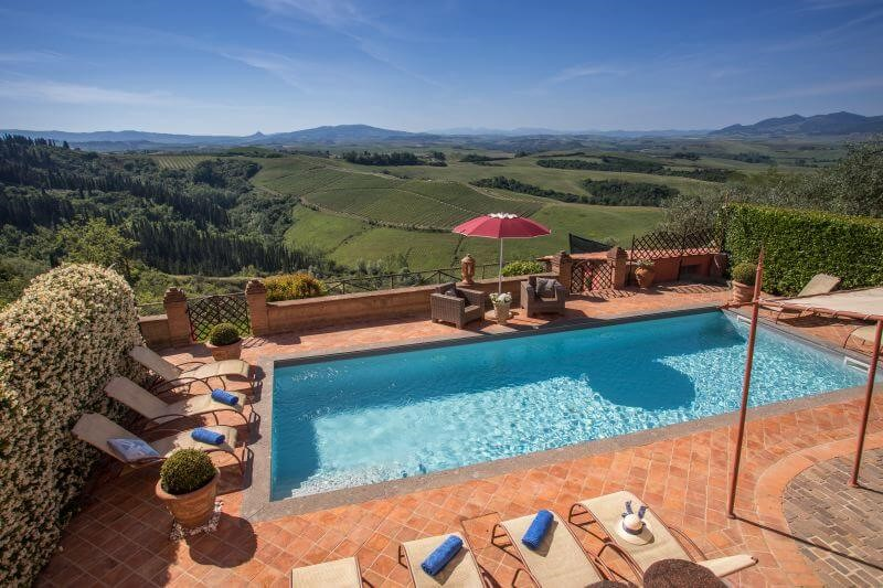 Villa in Tuscany with great panoramic views