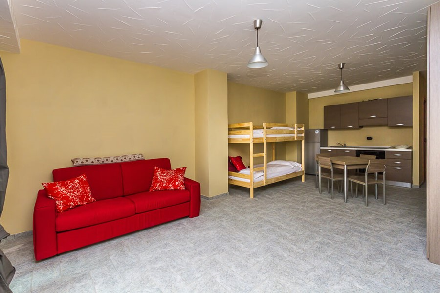 Modern apartment in Sauze d'Oulx, sleeping 4 people in a studio