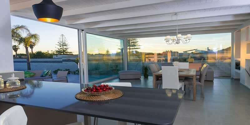 Large modern house with shared pool near Marsala on the west coast of Sicily