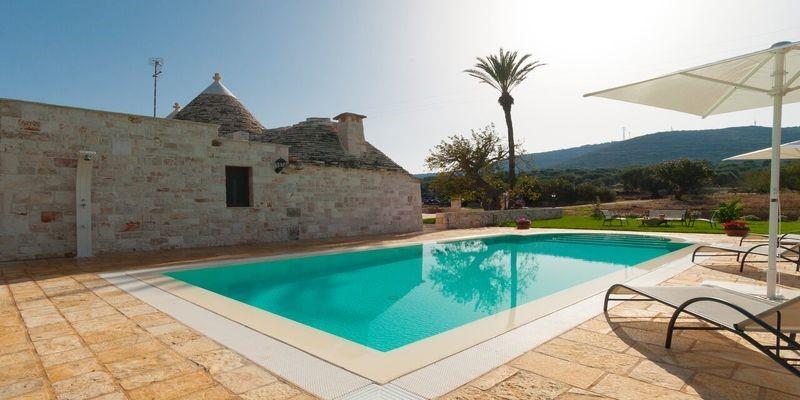 Trulli near Capitolo in Puglia with private pool