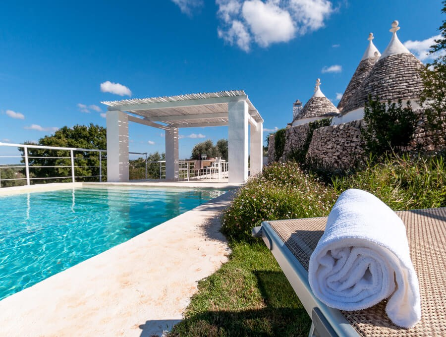 Beautiful Trullo with private pool located in a panoramic position over the d'Itria valley near Ceglie Messapica