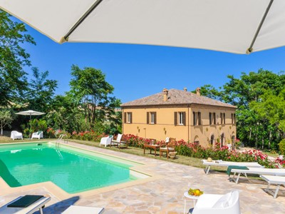Traditional Le Marche villa renovated to modern finish with private fenced in pool and beautiful views of the Marche countryside