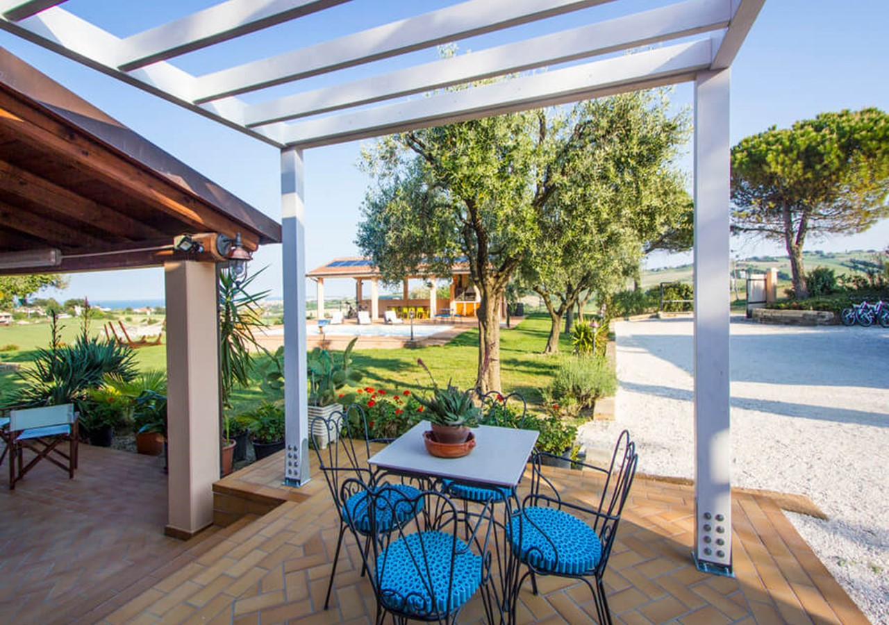 Large villa with sea view and pool in Le Marche