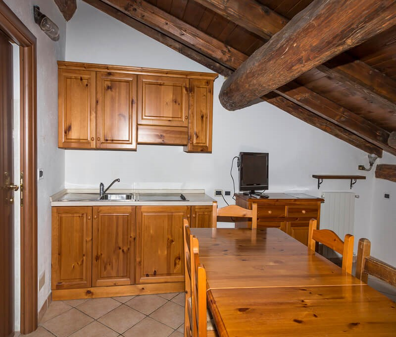 1 bedroomed apartment in Sauze d'Oulx sleeping 5 people only 250m from the town center