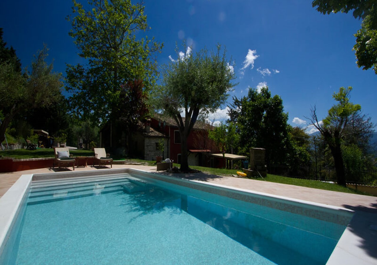 Villa with 2 apartments near Acqualagna in Le Marche with private pool in Le Marche
