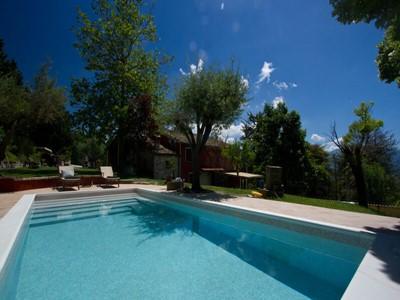 Villa with 2 apartments near Acqualagna in Le Marche with private pool in Le Marche