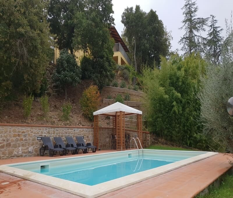 Great villa in Umbria with private pool surrounded by woodland & within walking distance from San Felicano