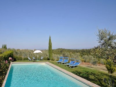 Tuscany villa with private pool for large groups in the Chianti region