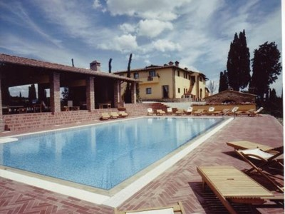 Large villa in Tuscany with great views, private pool, sleeping 20 people