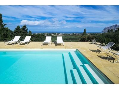 Villa with private pool & sea view near Trapani, in north west Sicily